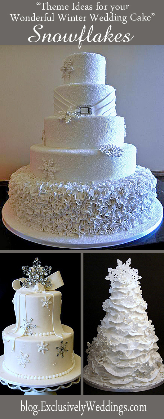 Winter Themed Wedding Cakes  Five Theme Ideas for Your Wonderful Winter Wedding Cake