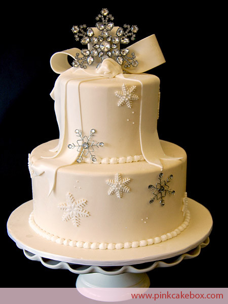 Winter Wonderland Wedding Cakes  Winter Themed Wedding Cakes Pink Cake Box Custom Cakes