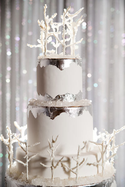 Winter Wonderland Wedding Cakes  Winter Wonderland Wedding Inspiration