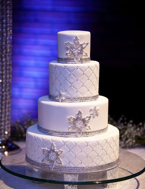 Winter Wonderland Wedding Cakes  40 Winter Glam Wedding Ideas