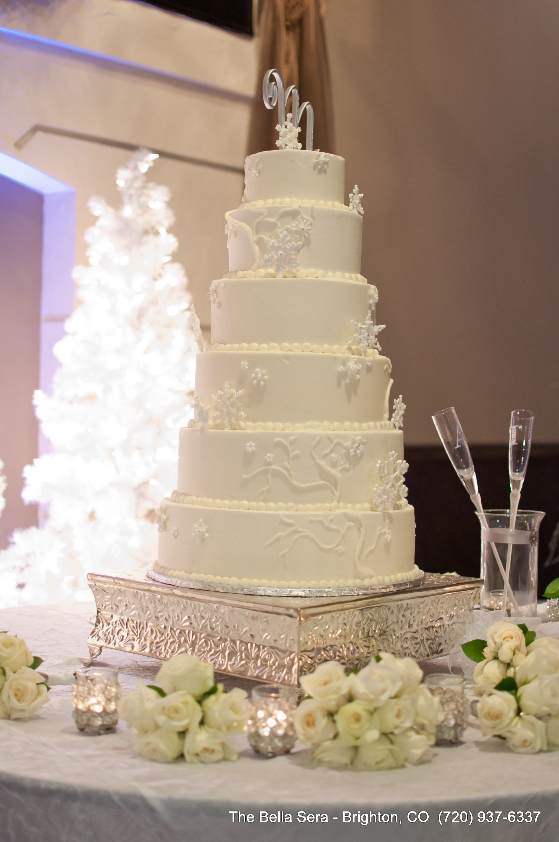 Winter Wonderland Wedding Cakes  Wedding Cake Traditions Bella Sera Denver Wedding Venue
