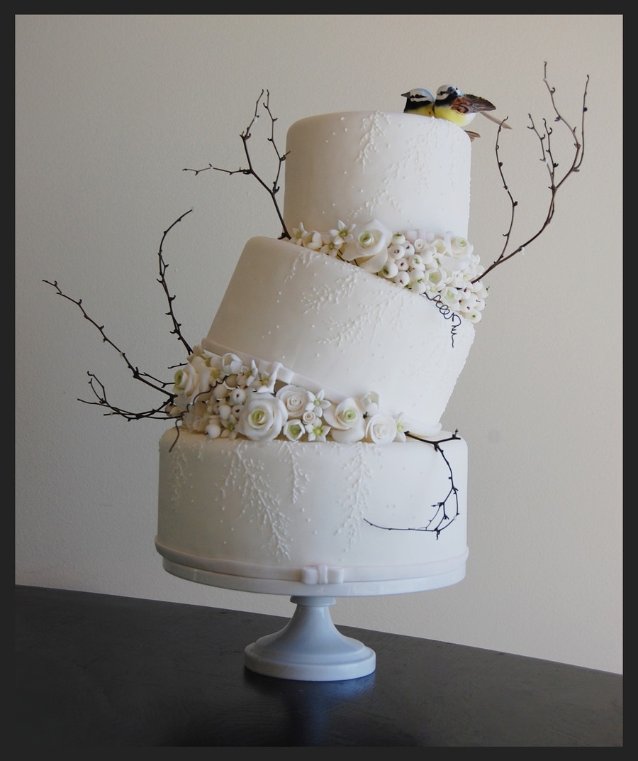 Winter Wonderland Wedding Cakes  Winter Wonderland Wedding Cake CakeCentral