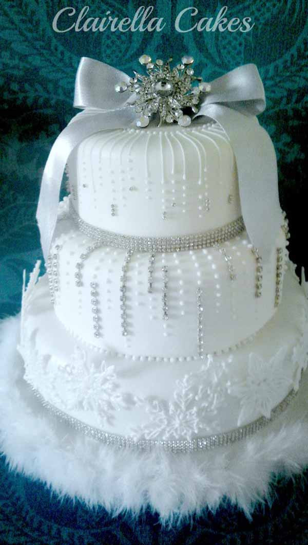 Winter Wonderland Wedding Cakes  25 Breathtaking Christmas Wedding Ideas Christmas