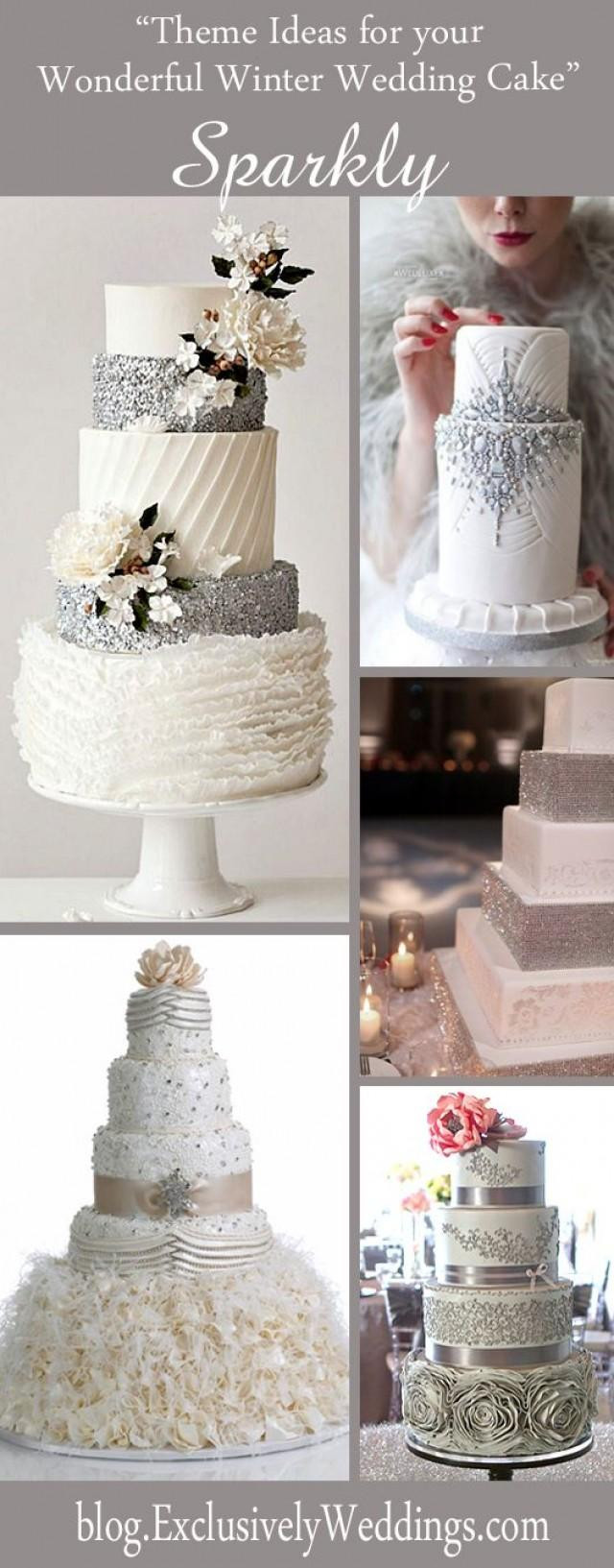 Wonderful Wedding Cakes  Five Theme Ideas For Your Wonderful Winter Wedding Cake