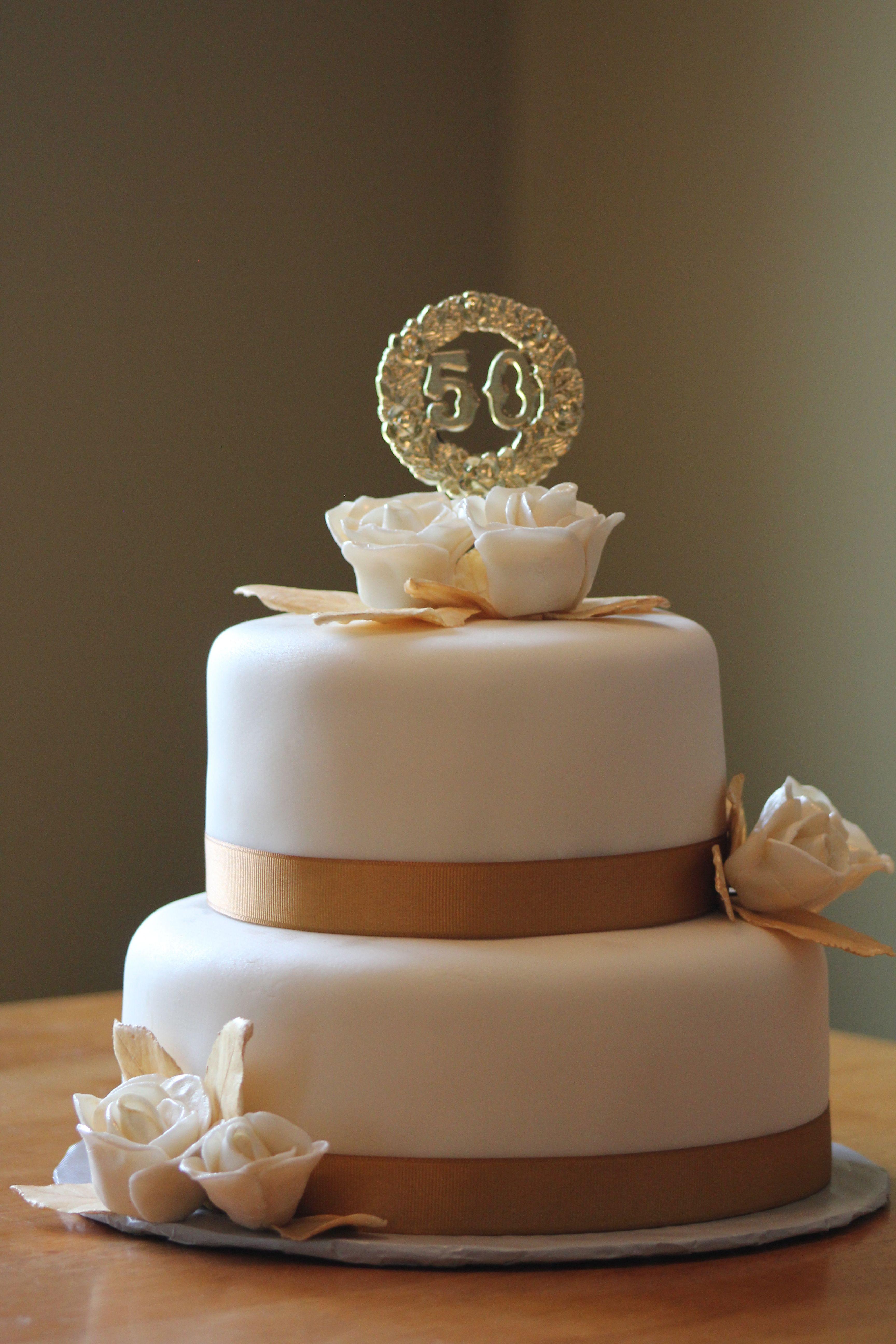 Wonderful Wedding Cakes  Wonderful 50th Wedding Anniversary cake