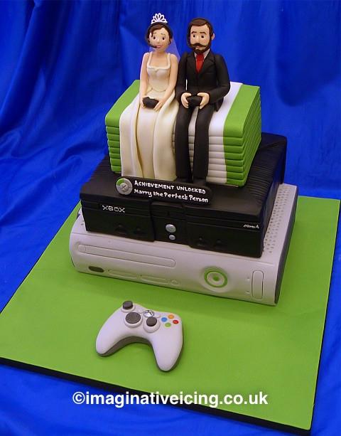 "Xbox Wedding Cakes  Geek Gaming Xbox Wedding Cake – ""Achievement Unlocked"