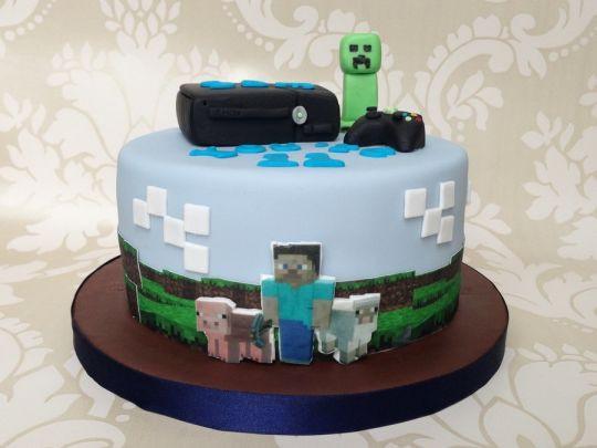 Xbox Wedding Cakes  Xbox 360 Minecraft cake Cake by Sugar Sweet Cakes