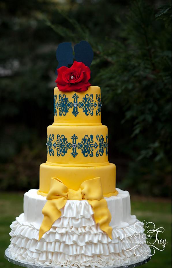 Yellow And Blue Wedding Cake  Southern Blue Celebrations Yellow Cake Ideas & Inspirations