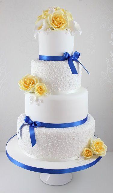Yellow And Blue Wedding Cake  Best 25 Yellow wedding cakes ideas on Pinterest