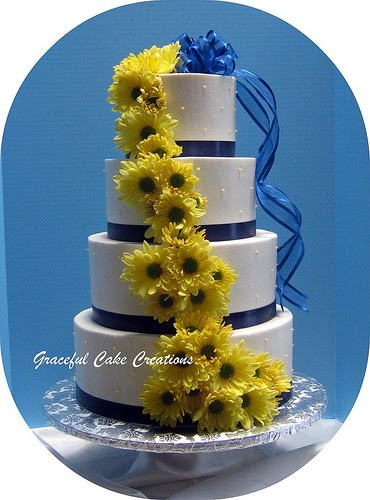 Yellow And Blue Wedding Cake  Ailin s blog Russian weddings are a unique celebration