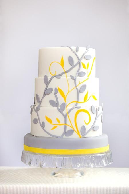 Yellow And Grey Wedding Cake  Your Wedding in Colors Yellow and Grey Arabia Weddings
