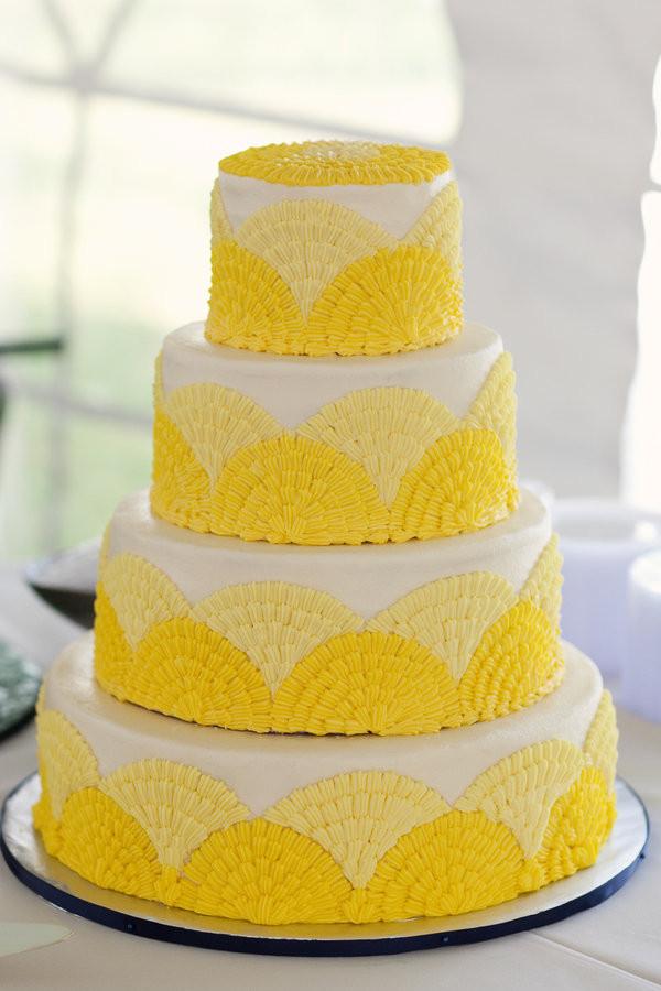 Yellow Wedding Cake  Green Scene Eco Friendly Wedding Ideas
