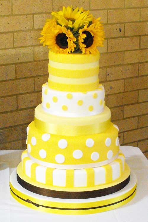 "Yellow Wedding Cake  Yellow Wedding Cakes ""Cake Picture"""