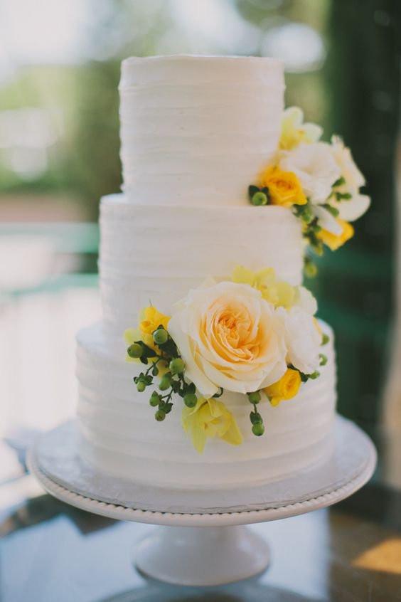 Yellow Wedding Cake  Yellow Wedding Cakes Wedding Ideas