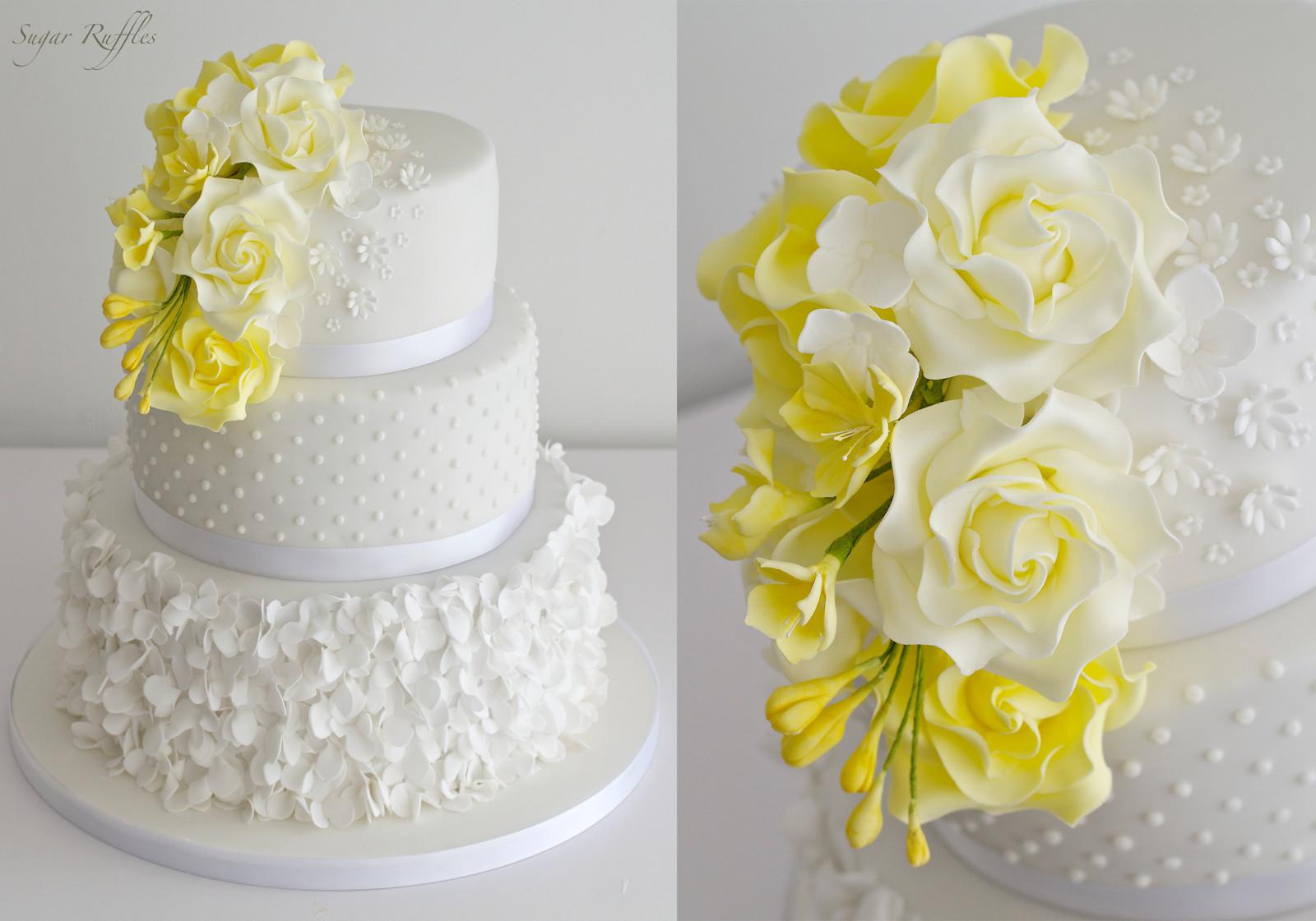 Yellow Wedding Cake  Yellow Wedding Cake