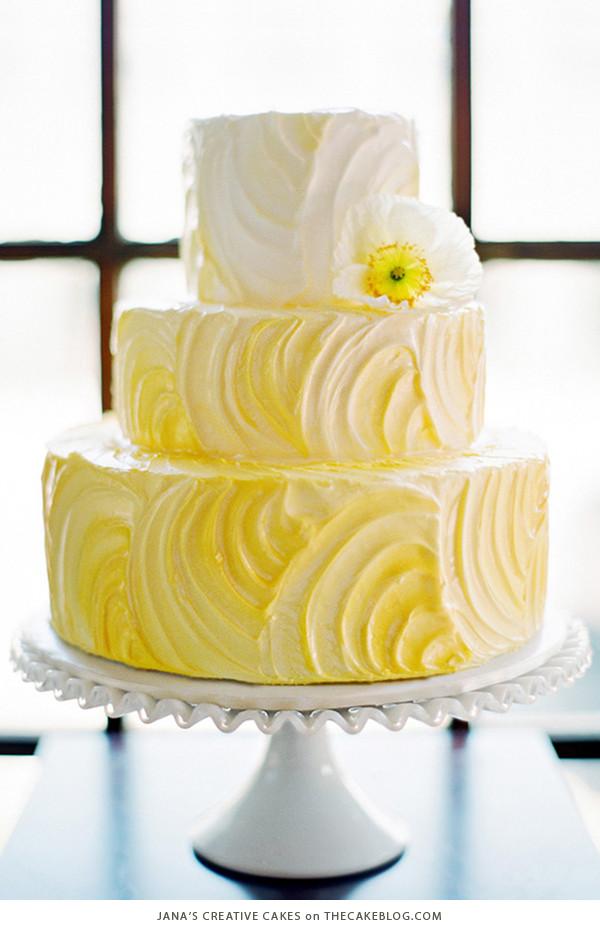 Yellow Wedding Cake  10 Brilliant Yellow Cakes