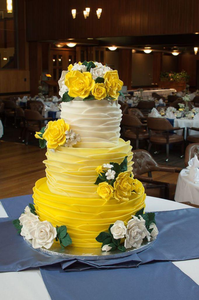 Yellow Wedding Cake  Mint Apple Sage Green Wedding Color Schemes
