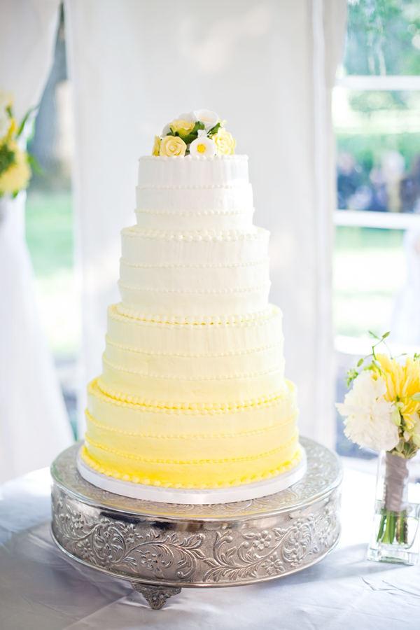 Yellow Wedding Cake  Wedding Cakes Yellow Ombre Wedding Cake