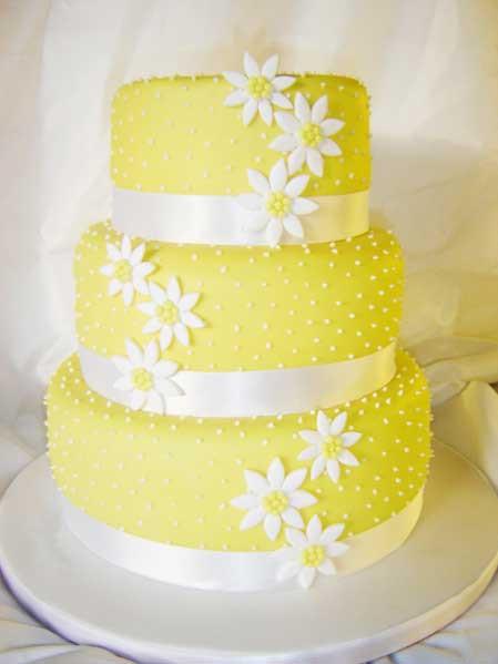 Yellow Wedding Cake  Wedding By Designs Yellow Wedding Cakes Design