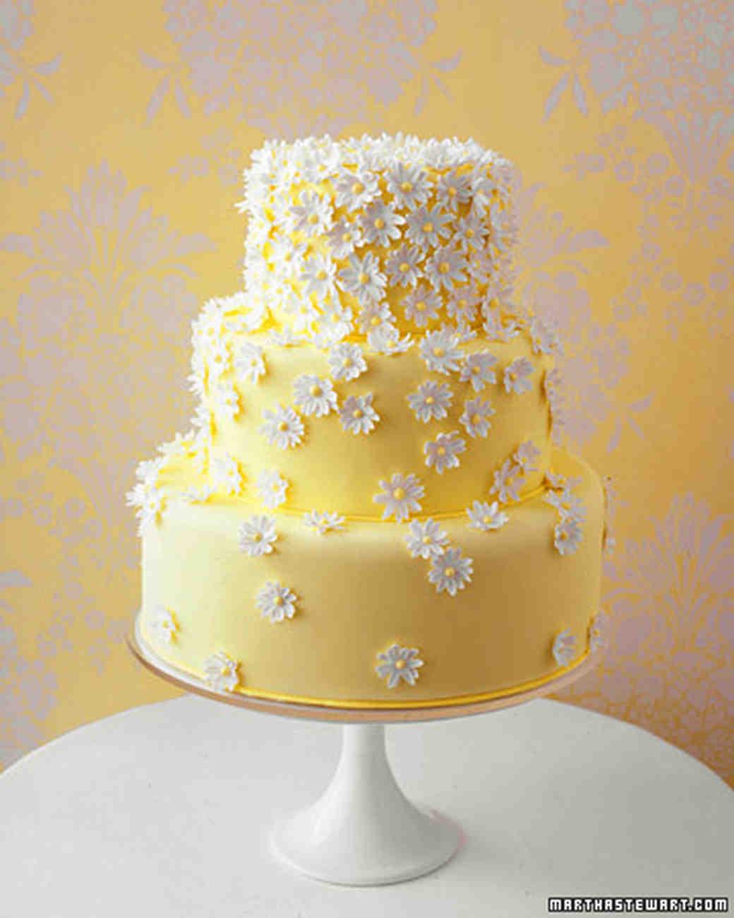 Yellow Wedding Cake  Wedding Colors Yellow and White