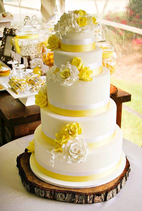 Yellow Wedding Cake  25 best ideas about Yellow wedding cakes on Pinterest