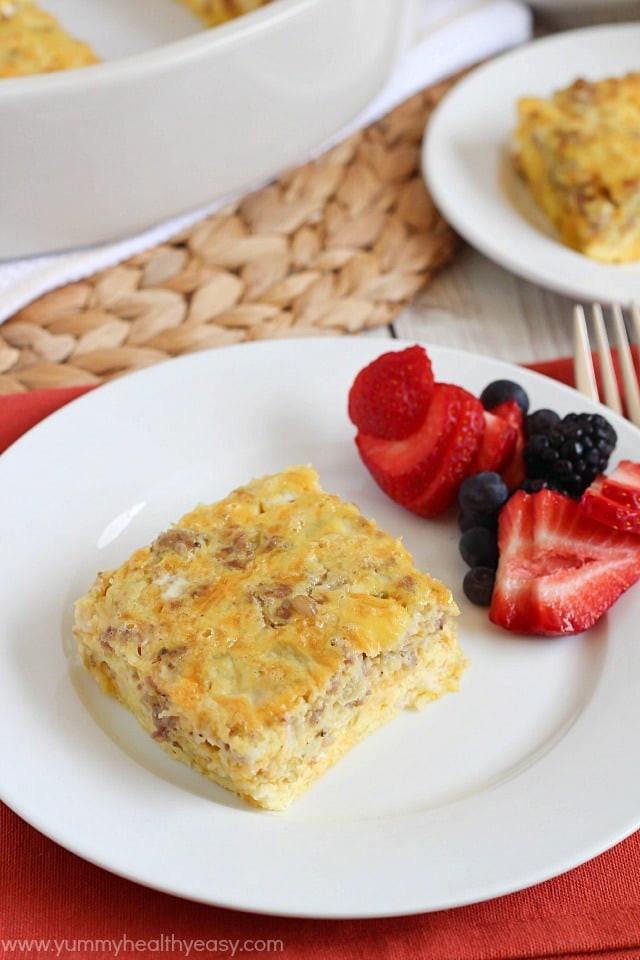 Yummy Healthy Breakfast  Egg & Sausage Breakfast Casserole Kindle Giveaway