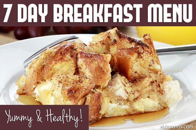 Yummy Healthy Breakfast  7 Day Breakfast Menu Yummy & Healthy