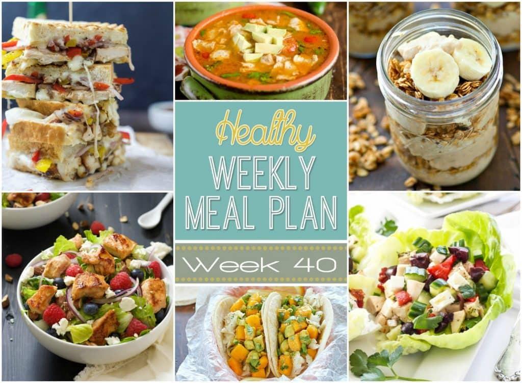 Yummy Healthy Breakfast  Healthy Weekly Meal Plan 40 Yummy Healthy Easy