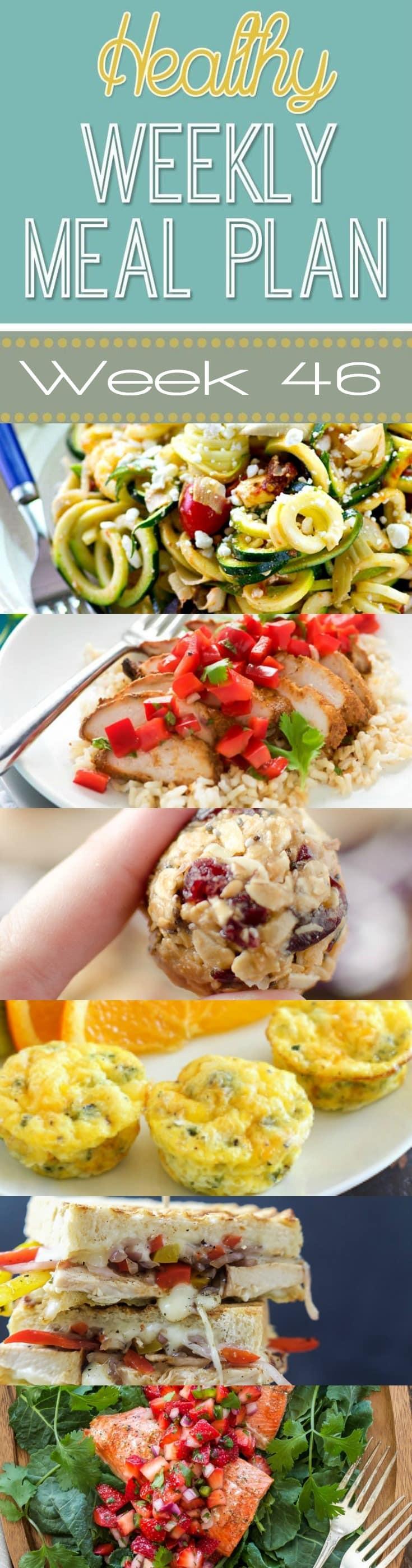 Yummy Healthy Dinners  Healthy Weekly Meal Plan 46 Yummy Healthy Easy
