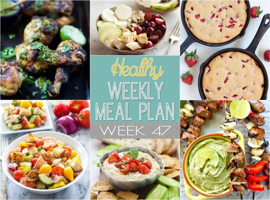 Yummy Healthy Dinners  Healthy Weekly Meal Plan 47 Yummy Healthy Easy