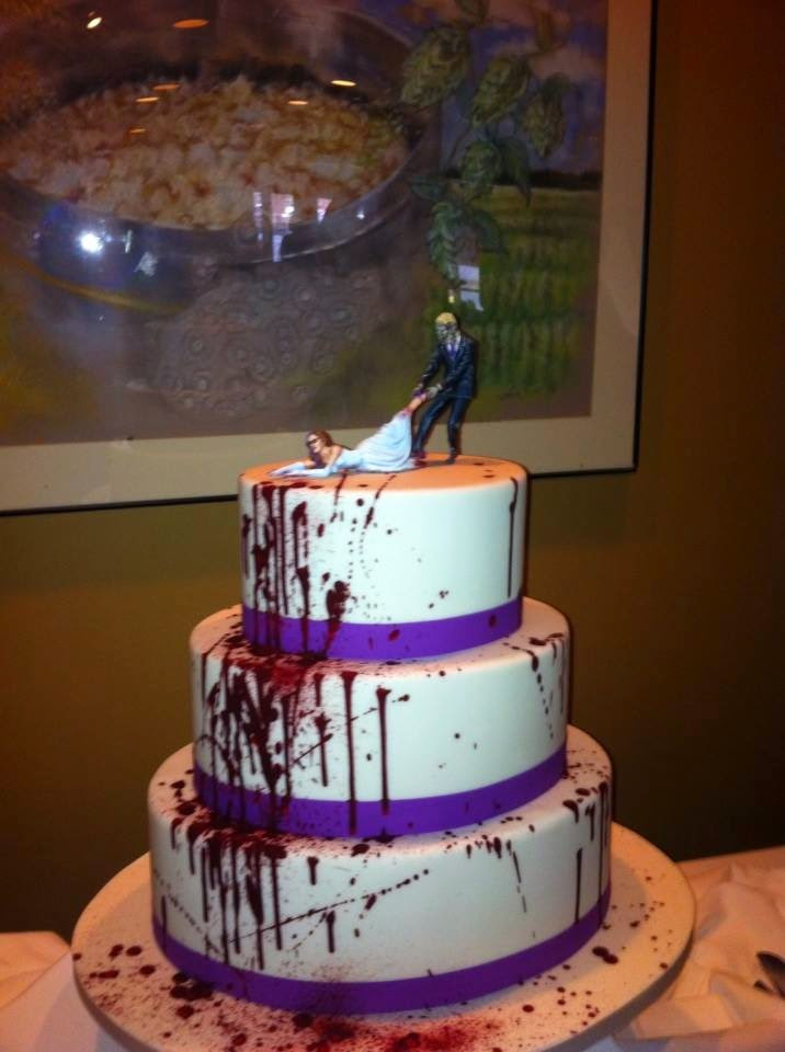 Zombie Wedding Cakes  Daughters of the Emperor Zombie Wedding Cake Topper