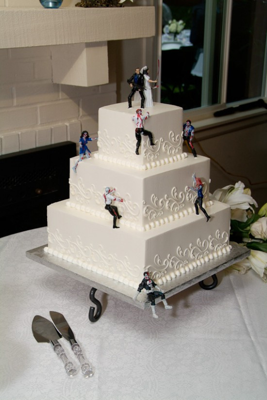 Zombie Wedding Cakes  Zombie Wedding Cake Toppers and Cakes –