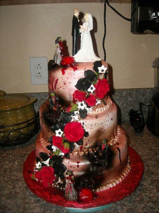 Zombie Wedding Cakes  Zombie wedding cake Art Pinterest