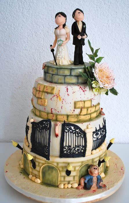 Zombie Wedding Cakes  Zombie Wedding Cake Cake by Simone Barton CakesDecor