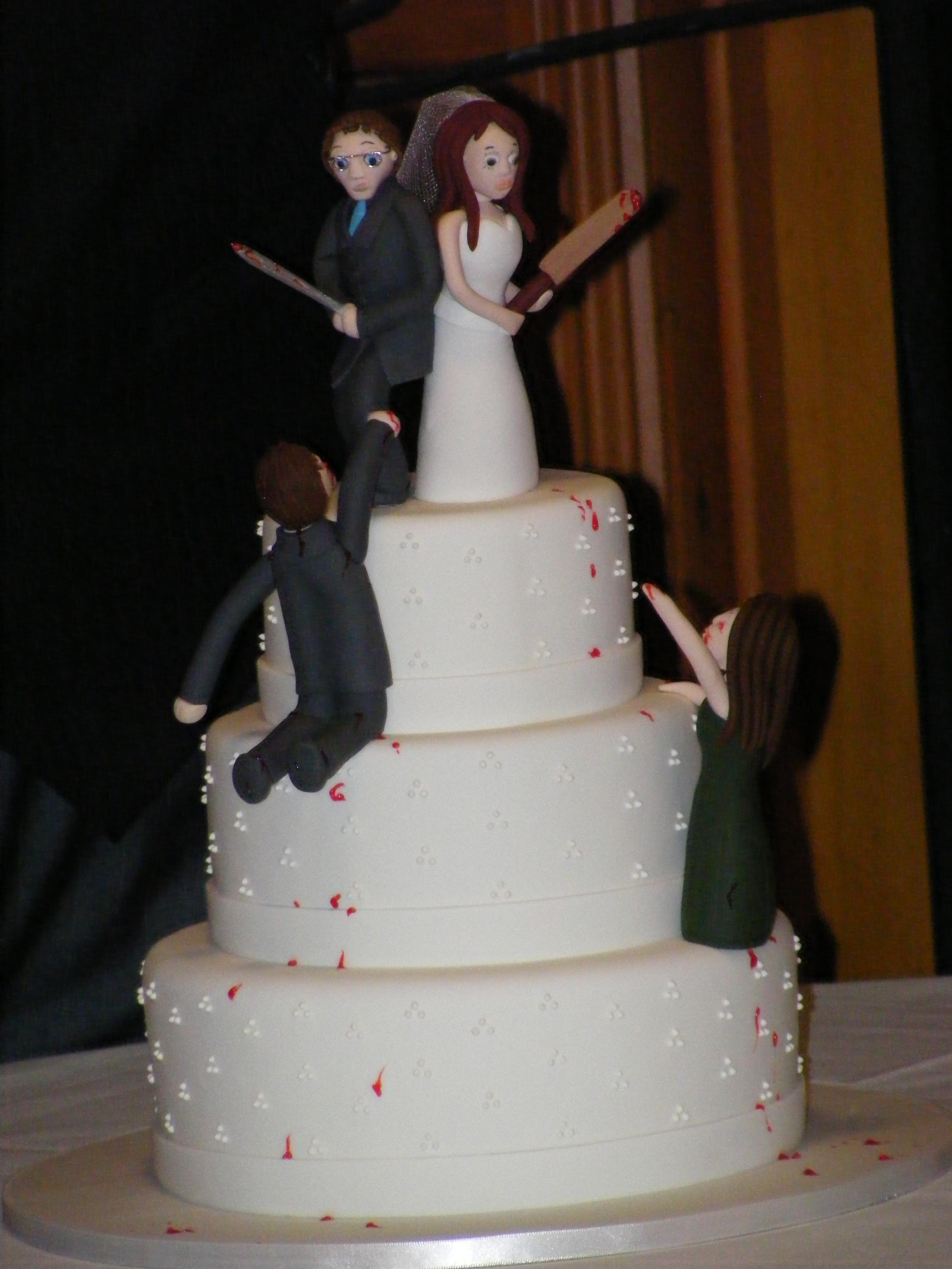 Zombie Wedding Cakes  Zombie Wedding Cake toppers