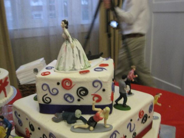 Zombie Wedding Cakes  Zombie wedding cake with Coheed groom's cake