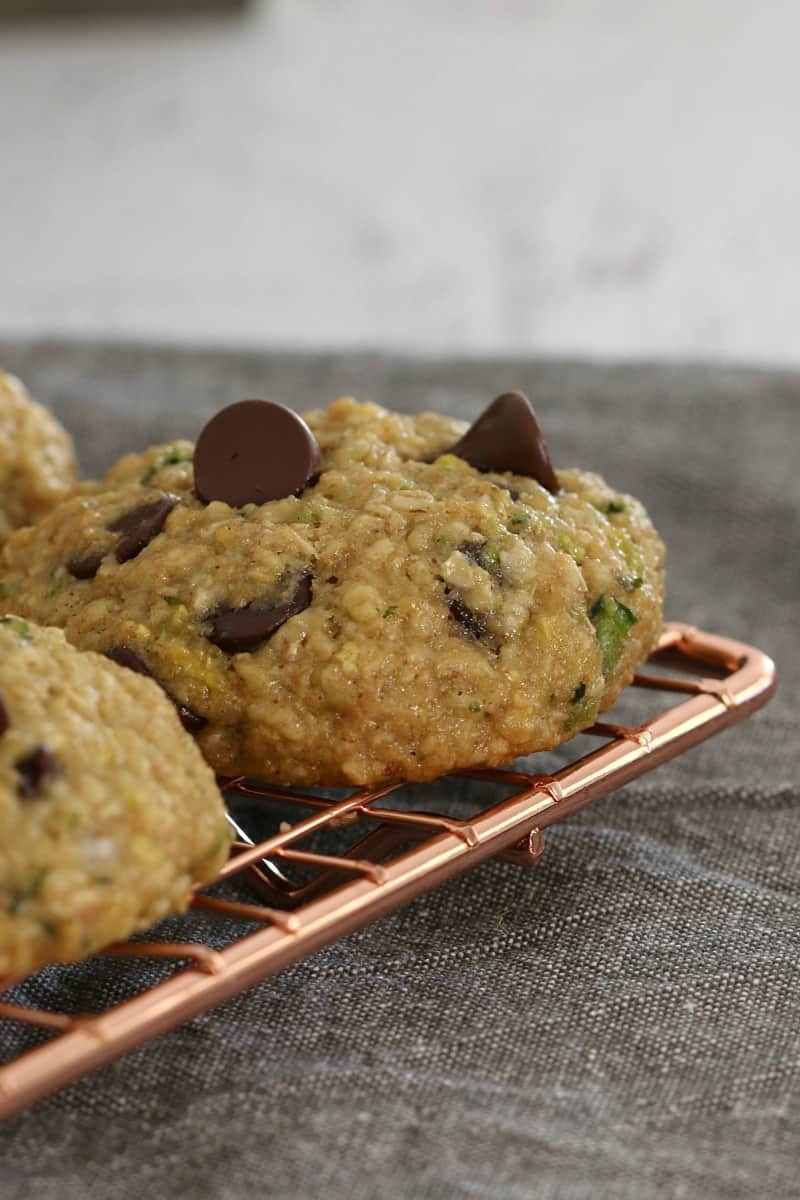 Zucchini Cookies Healthy  Healthy Zucchini Oat and Chocolate Chip Cookies Bake
