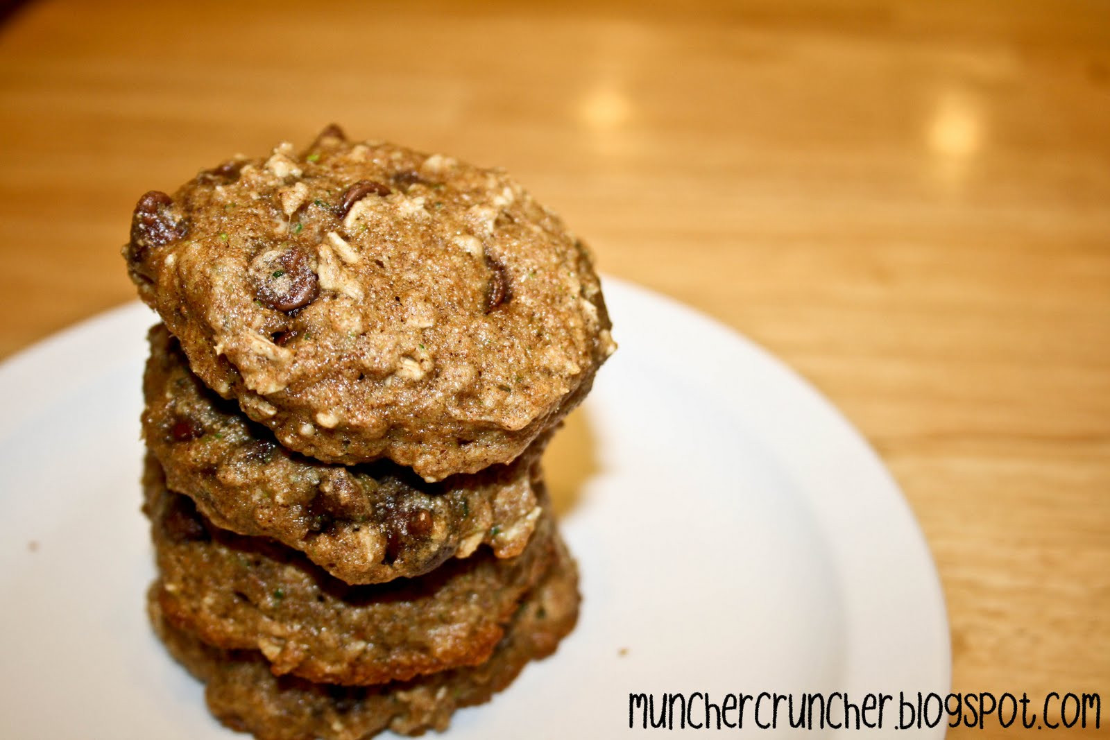 Zucchini Cookies Healthy  Muncher Cruncher Low Fat Zucchini Cookies