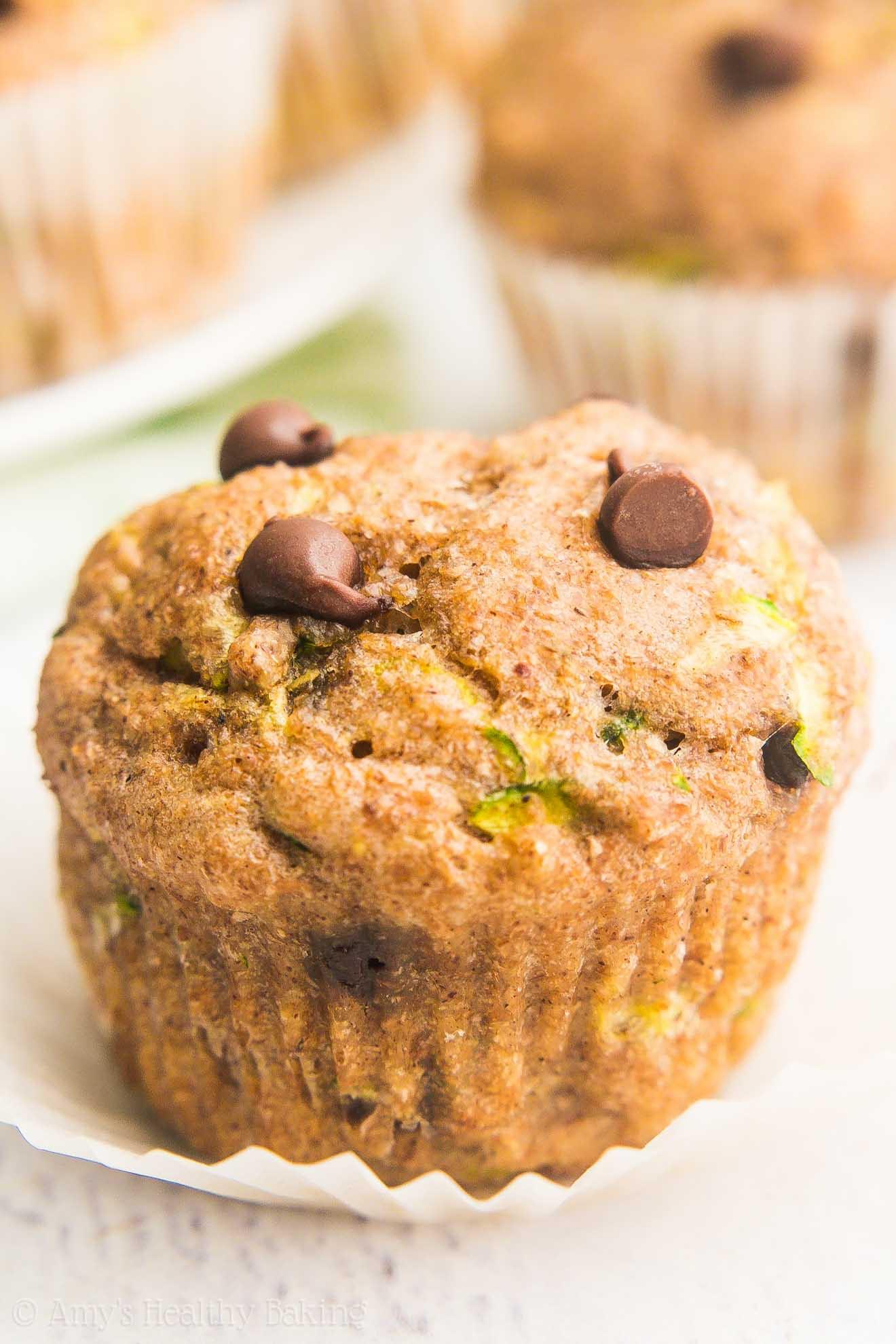 Zucchini Muffins Healthy  Chocolate Chip Zucchini Mini Muffins