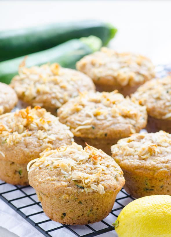 Zucchini Muffins Healthy  Lemon Zucchini Muffins iFOODreal Healthy Family Recipes