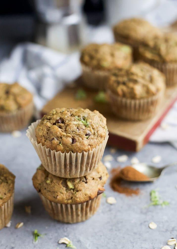 Zucchini Muffins Healthy  Chocolate Chip Zucchini Muffins