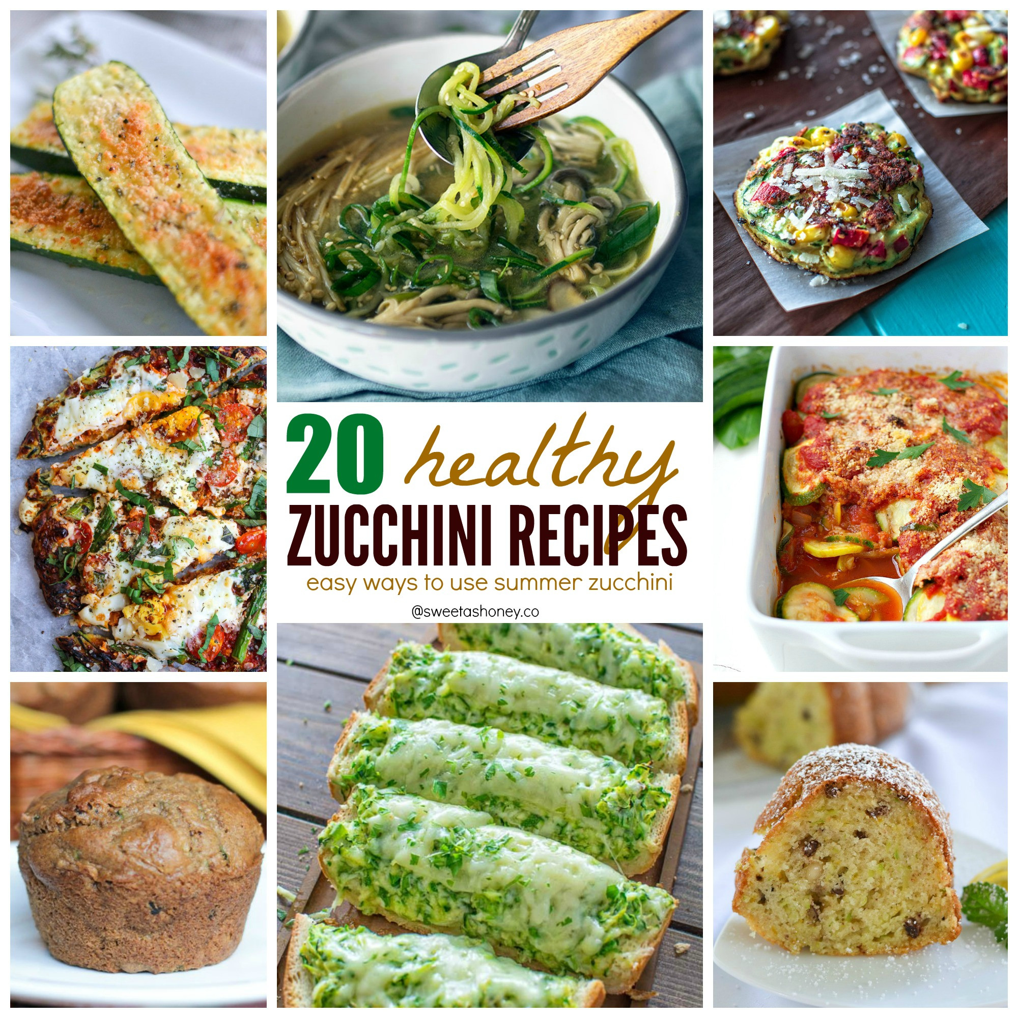 Zucchini Recipe Healthy  Healthy Zucchini Recipes 20 Easy Ways to Use Zucchini