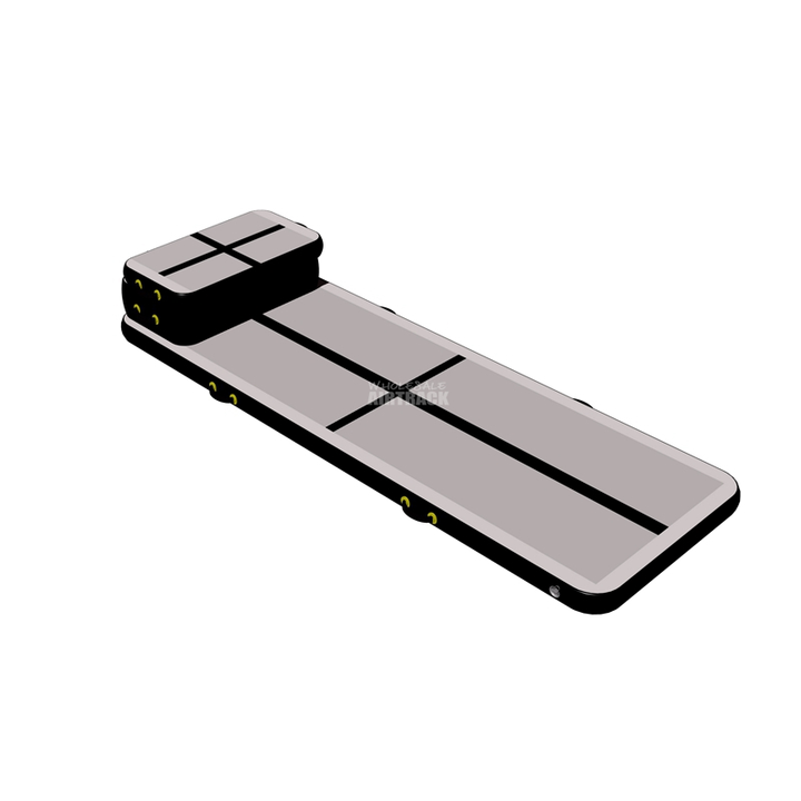 Sell panel mat gymnastics gray surface black side air floor pro tumble track