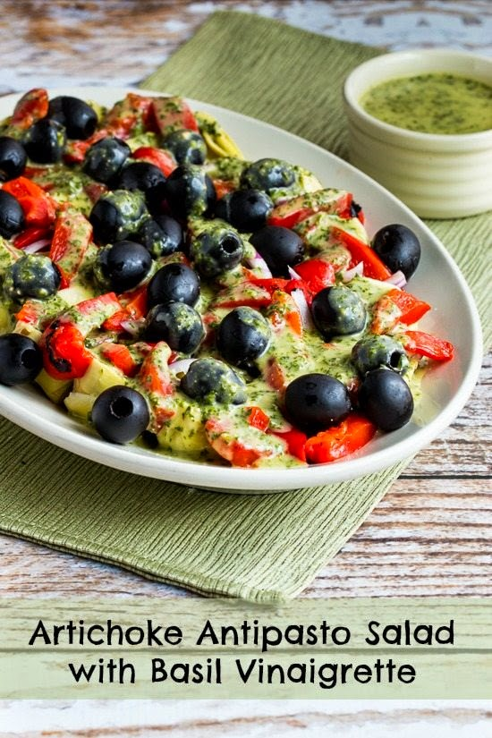 11.Artichoke Antipasto Salad With Basil Vinaigrette