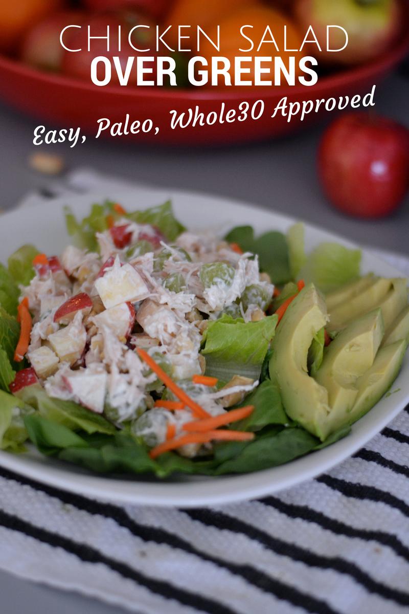 16. Chicken Salad Over Greens