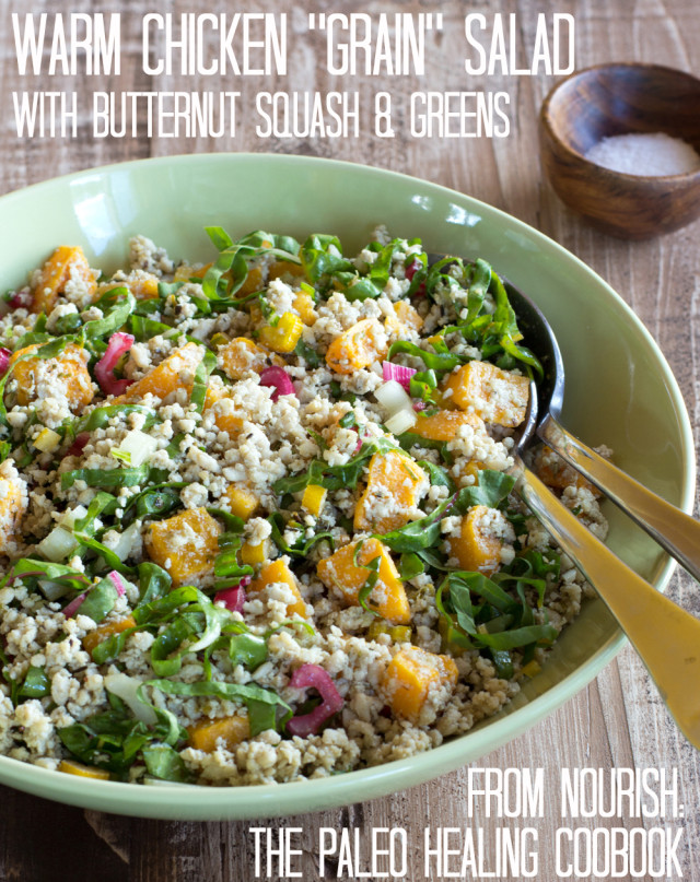 4. Chicken grain salad with greens