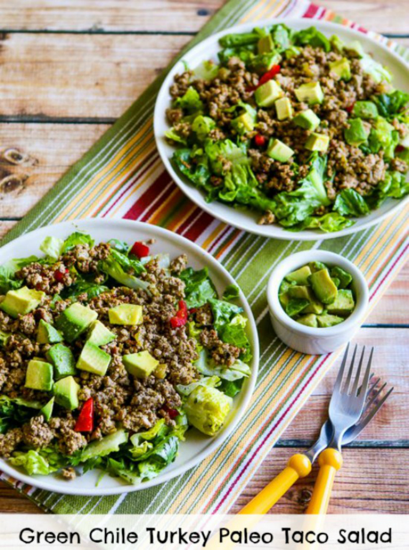 19. Green Chile Turkey Avocado Salad
