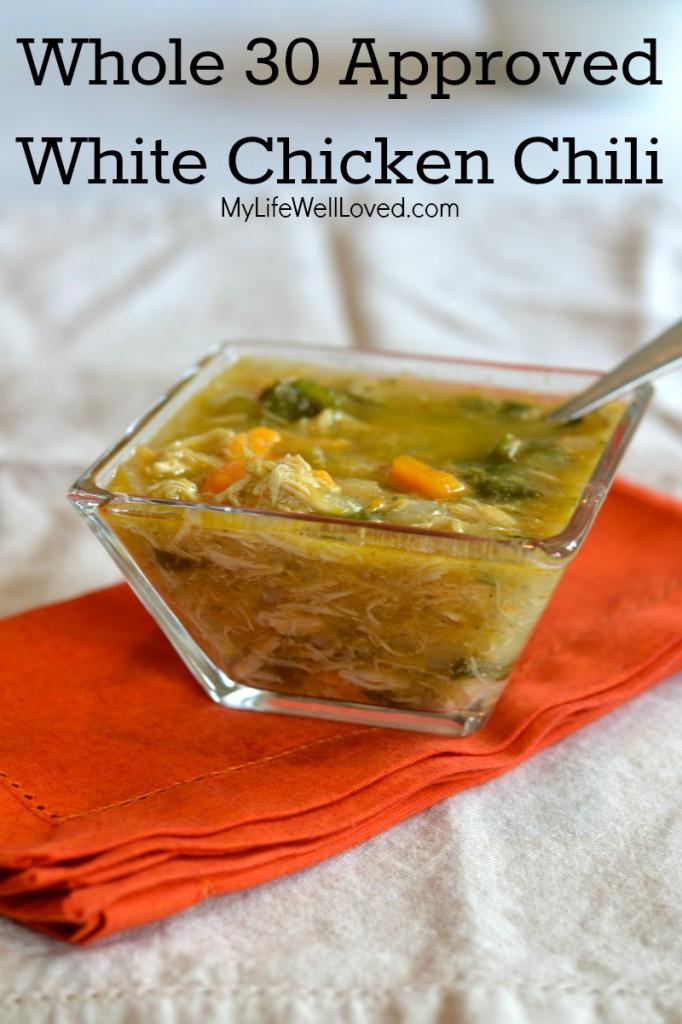 25. White chicken chili