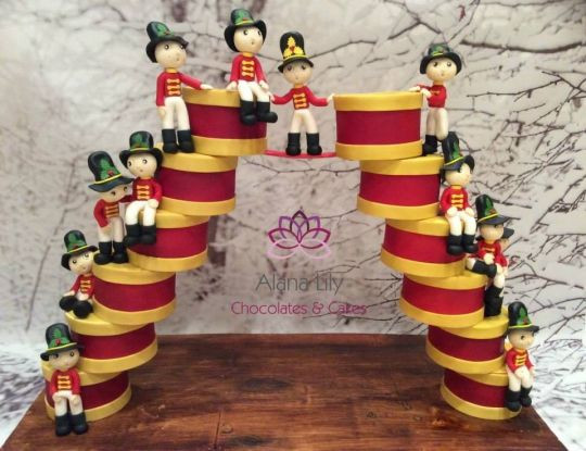 12 Days Of Christmas Cakes  the Twelfth day of Christmas 12 Drummers Drumming