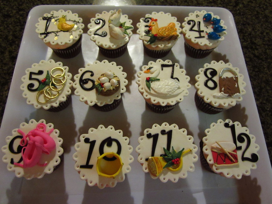 12 Days Of Christmas Cakes  12 Days Christmas Cupcakes CakeCentral